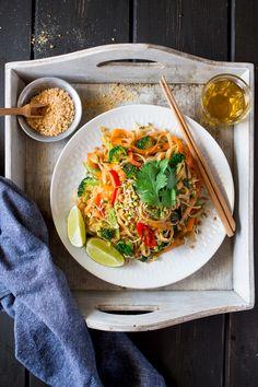 vegan pad thai for one