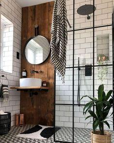 Western Bathroom Decor, Wood Bathroom, Bathroom Flooring, Small Bathroom, Bathroom Ideas, Bathroom Beach, Shower Bathroom, Bathroom Images, Bathroom Hardware
