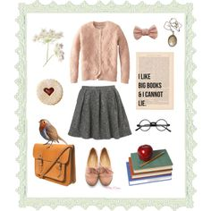 """Bookworm"" by given-to-fly on Polyvore"