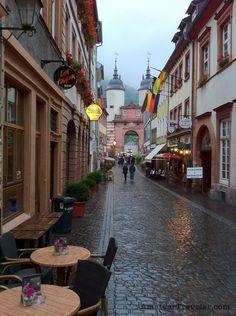a street in Heidelberg, Germany