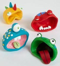 Toepferideen Toepfern Ideen mit Kindern DIY IDEEN monsterparty