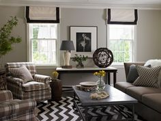 Love this Family room with rug