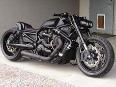 Black V-Rod Turbo - Fotocykle. Vrod Custom, Custom Harleys, Scrambler Motorcycle, Moto Bike, Motorcycle Cover, Custom Street Bikes, Custom Bikes, Cool Motorcycles, Harley Davidson Motorcycles