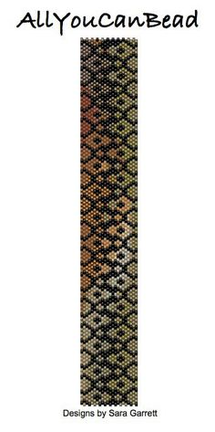 Peyote Cuff Bracelet Pattern Fall Colors with by AllYouCanBead