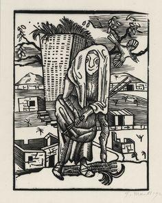 Gerhard Marcks - Die Krauthexe (Krauthexe), Holzschnitt, 1923