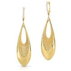 Roberto Coin Golden Gate Diamond Drop Earring