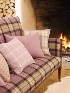 Isles of Skye Collection by Prestigious Textiles - Isle of Skye is a family of wool weaves for upholstery which presents a new take on classic concepts. Reversible plaid, twill and herringbone patterns pay tribute to timeless tradition, whilst a dainty spot imparts a clever contemporary edge.