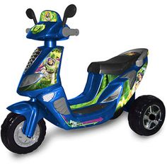 Disney Toy Story 3-Wheel Scooter 6-Volt Battery-Powered Ride-On