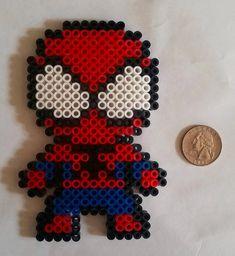 Spiderman Perler Bead by BeadsNWreaths on Etsy