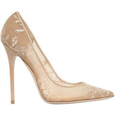 JIMMY CHOO 120mm Anouk Mesh & Lace Pumps