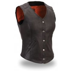 First Classics Longer Length Leather Vest FIL545CSL