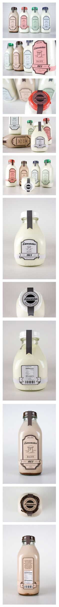 Lancaster Dairy Milk Packaging By Danielle Hop