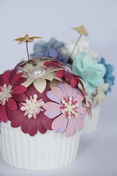 Pink Spring Muffin by Yoshie Kumagai.  Paper Flowers
