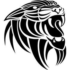 León Nevera pegatinas En Vinilo Negro en la A4 Tamaño-Cocina pegatinas-Ojos