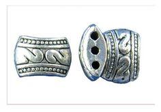 BD131 - Antique Silver Rectangle Swan BeadBeads - Kismet Mosaic