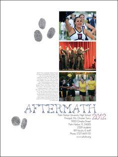 Palm Harbor University High School yearbook title page Yearbook Layouts, Yearbook Design, Yearbook Ideas, University High School, High School Yearbook, Yearbooks, Title Page, White Space, Layout Inspiration