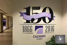 We are highlighting a Corporate & Commercial design today! This year, Calvary Baptist Church is celebrating it's 150th Anniversary!! For this project, we designed and built two 3-d metal signs, each six feet wide, to be placed in their entrances as a welcome to attendees. The artwork features their anniversary logo cut from steel, welded in layers, and accented in shades of their signature  purple. Special thanks to Stoney and Corinne, who have made the whole design process an absolute…