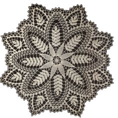 Fern Crochet Doily Pattern Mail Order 318    The pattern design is an attractive Fern motif, or leaves, should you prefer. Make it in Large (29 or 26 inches), Small (18 or 13 inches); depending upon materials used.