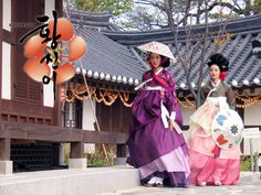 Hanbok views of Kisaeng, both in typical costumes, with layering of Chima and hair accessories Korean Hanbok, Korean Dress, Korean Traditional Dress, Traditional Dresses, Kbs Drama, Famous Women, Asian, Culture, Actresses