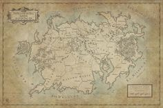 "This map was commissioned by the writer Tom Baker and depicts another continent of his world, Saryndiil, the Realm of the Eadä. original size 16x24"", done in PS."