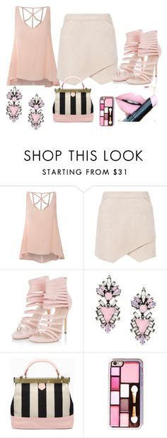 """going out"" by caleb-hogan-330 ❤ liked on Polyvore featuring Glamorous, BCBGMAXAZRIA, Erickson Beamon and Fiebiger"