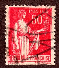 France Scott #267 50c Red  Used, Pen Cancel F-VF 4 Good Margins