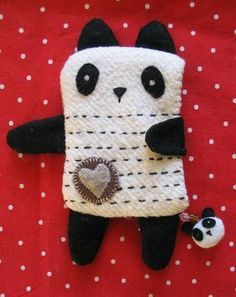 Panda from face washers for a wash mitt!