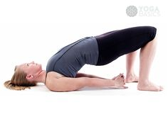 Photos, instructions, benefits, modifications and variations for practicing Bridge Pose.