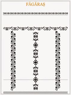 ie de Fagaras Blackwork Patterns, Textile Patterns, Beading Patterns, Cross Stitch Patterns, Medieval Embroidery, Folk Embroidery, Embroidery Patterns, Cross Stitch Borders, Sewing Projects