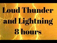 Night full of extreme thunder, lightning and rain sounds - 8 hours Thunderstorm - YouTube