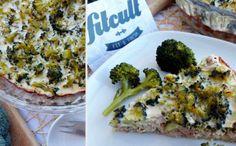 Francúzsky slaný koláč na fit spôsob s tuniakom, syrom a brokolicou (Recept)