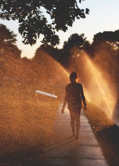 and then she walked away, straight through the sprinklers with her head held high Just Dream, Summer Vibes, Summer Nights, Light And Shadow, Beautiful Creatures, Daydream, Summertime, Art Photography, In This Moment