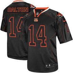 Nike Elite Men's Cincinnati Bengals #14 Andy Dalton Lights Out Black NFL Jersey  $129.99