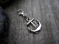 Silver Anchor Charm  Midori Charm  Fauxdori by PohakantenJournals