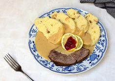 Svíčková na smetaně, poklad české kuchyně Beef Recipes, Pancakes, Dinner, Breakfast, Anna, National Dish, Popular, Easy Meals, Food Food