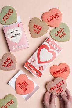 Conversation heart cookies & printable box - The House That Lars Built