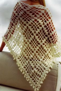 Lovely Diamond Shawl Pattern to go with chart to right