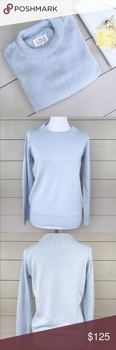 """Mason Martin Magiela cotton sweater Made in Italy Mason Martin Margiela sweater🎉  bust 20"""" length 23"""" 🎉  100% cotton Made in Italy! Super soft and great for fall. Mason Martin Margiela Sweaters Crew & Scoop Necks"""
