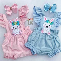 Easter Bunny Clothes Newborn Kids Baby Girl Romper Bodysuit Jumpsuit Outfits US Baby Girl Romper, Little Girl Dresses, Baby Girl Newborn, Kids Outfits Girls, Girl Outfits, Kids Dress Wear, Baby Dress Design, Bunny Outfit, Baby Dress Patterns