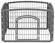 IRIS 24 Exercise 4Panel Pet Playpen with Door Dark Gray -- Read more reviews of the product by visiting the link on the image.