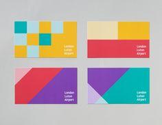 credit card graphic credit card design London Luton Airport Branding by Ico Design - Inspiration Grid Identity Design, Visual Identity, Logo Design, Brand Identity, Graphic Design, Design Design, Swiss Design, Design System, Brochure Design