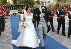 Royal Wedding Gowns, Royal Weddings, Wedding Dresses, Jordan Royal Family, Royals Today, Queen And Prince Phillip, People Getting Married, Royal Monarchy, Zeina