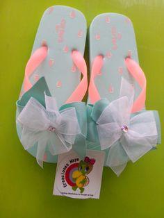 hermosas sandalias decoradas en kit