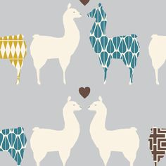 Llama Love Organic Fabric from Monaluna's Westwood Collection