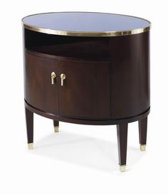 Century Windsor Smith Piroutte Side table - Group D Silver Leaf Finish W: 28.25 in X D: 20.25 in X H: 28 in