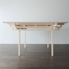 Temple Table by Hiroyuki Tanaka Architects 1 Clean and crisp table design…