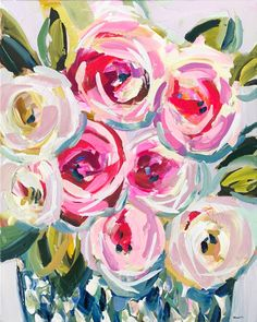 Art Floral, Floral Design, Flower Prints, Flower Art, Star Flower, Original Paintings, Original Art, Plant Drawing, Modern Art Prints