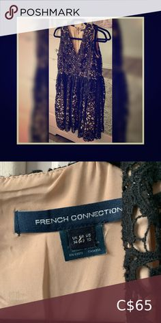 French connection dress Almost new beautiful cream colour with black cotton lace all over French Connection Dresses Midi Cotton Lace, Black Cotton, French Connection Uk, Cream Colour, Color, Sequin Skirt, Skirts, Closet, Beautiful