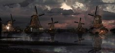 windmills city by Dye-Evolve on @DeviantArt