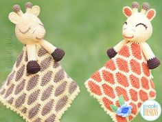 Rusty the Giraffe Lovey Blanket Crochet Pattern Crochet Security Blanket, Crochet Lovey, Crochet Unicorn, Crochet Blanket Patterns, Crochet Gifts, Baby Blanket Crochet, Half Double Crochet, Single Crochet, Giraffe Blanket